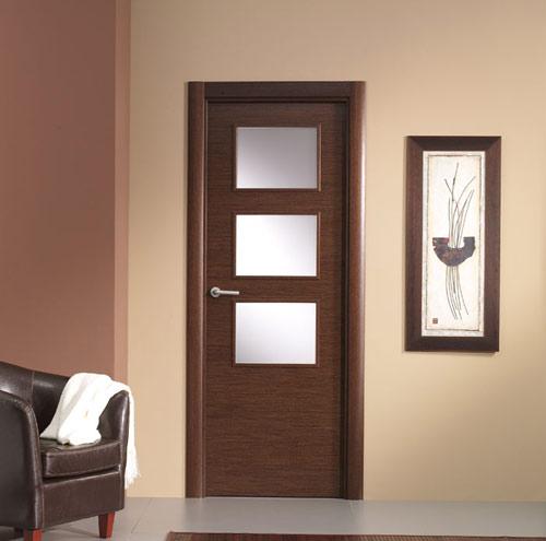 Puertas artama puertas de interior puertas de cristal for Puertas madera y cristal interior
